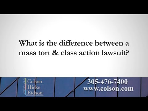 What is the Difference Between Mass Tort and Class Action?
