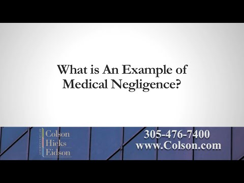 What is An Example of Medical Negligence?