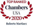 Top Ranked Chambers USA 2020 Roberto Martinez
